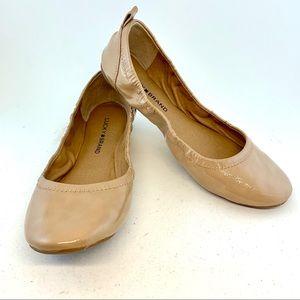 Lucky Brand Beige Eleesia Patent Ballet Flats 38